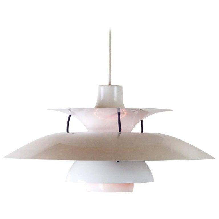 White PH5 Pendant Light by Louis Poulsen, Denmark For Sale