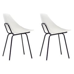 White Pierre Guariche Chairs