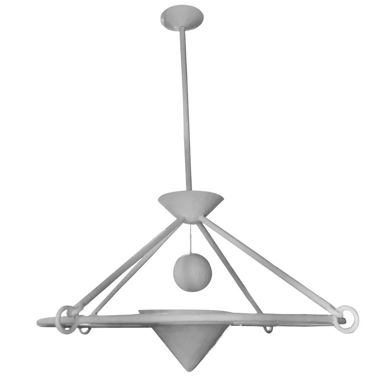White Plaster Chandelier, England, Contemporary For Sale