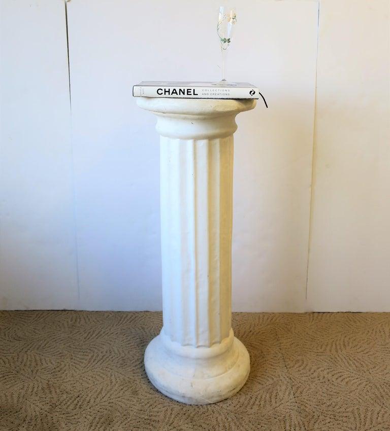 White Plaster Doric Order Pillar Column Pedestal At 1stdibs