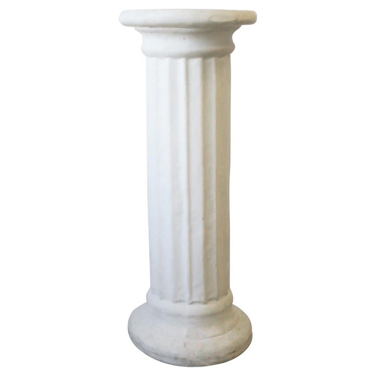 White Plaster Doric Order Pillar Column Pedestal At 1stdibs