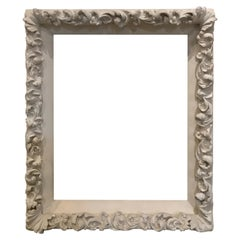 White Plaster Frame Large Thick, 1940s