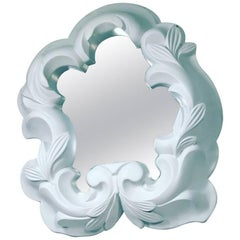 White Plaster Mirror in the Manner of Serge Roche