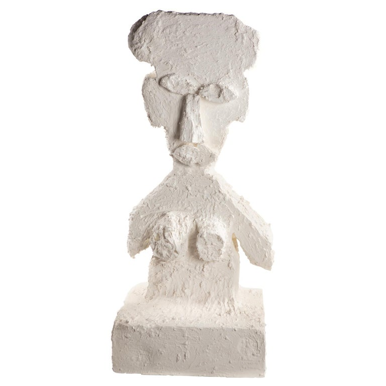 White Plaster Sculptural Figure, 21st Century by Mattia Biagi For Sale