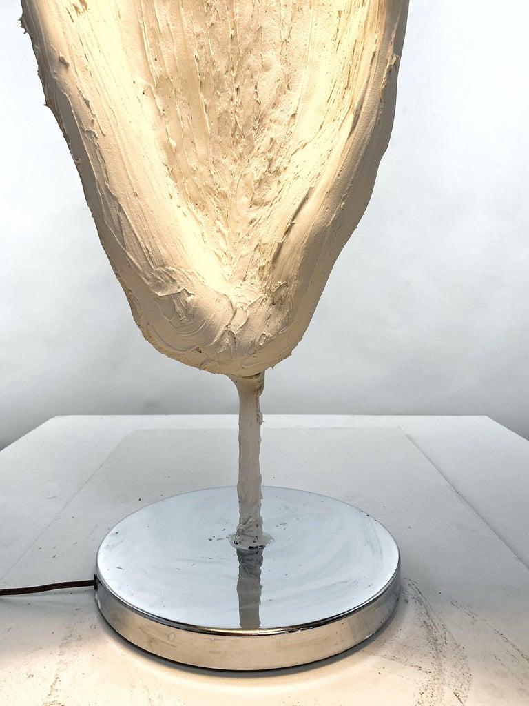 American White Plaster Sculptural Floor Lamp, 21st Century by Mattia Biagi For Sale