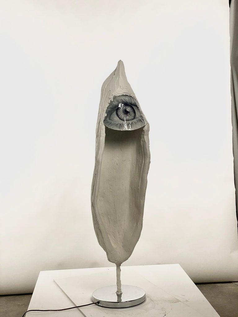 Contemporary White Plaster Sculptural Floor Lamp, 21st Century by Mattia Biagi For Sale