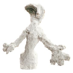 White Plaster Sculpture Man Figure, 21st Century by Mattia Biagi
