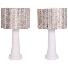 White Plaster Table Lamps
