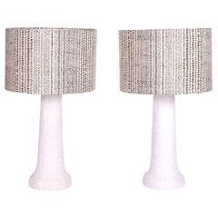 White Plaster Table Lamps