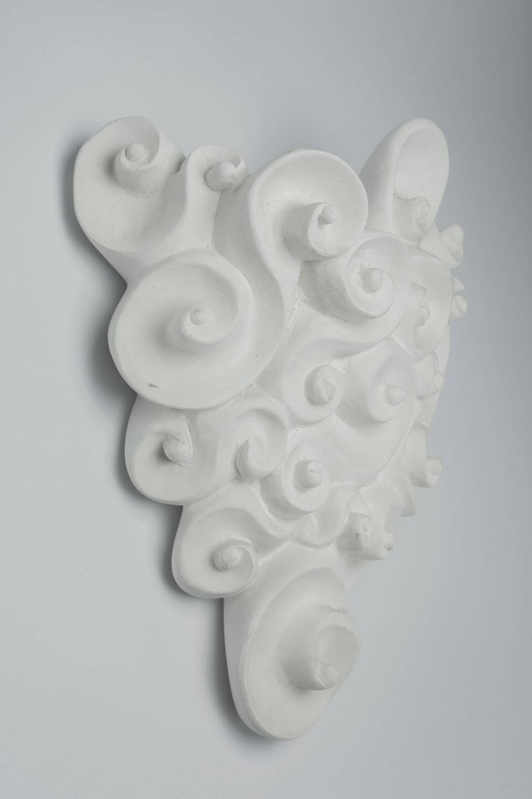 Large plaster jardinière wall planter from the