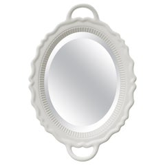 White Plateau Mirror, by Studio Job, Made in Italy, in Stock in Los Angeles