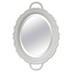 In Stock in Los Angeles, White Plateau Mirror, Designed by Studio Job