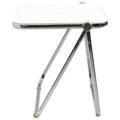 White 'Platone' Folding Desk by Giancarlo Piretti for Anonima Castelli, 1960s