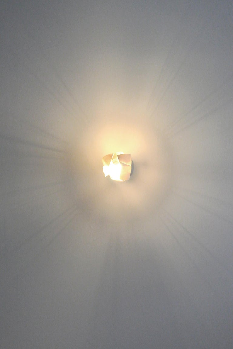 White Porcelain Ceiling Lamp with Hanging Porcelain Petals 5
