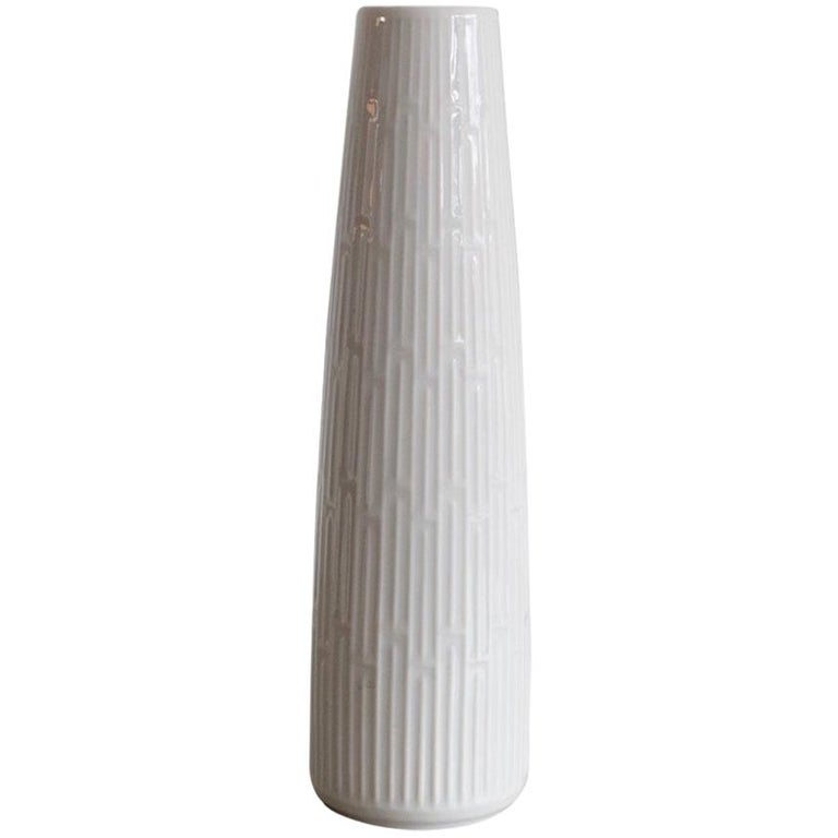 White Porcelain Vase by Meissen Porcelain
