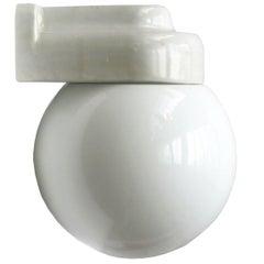 White Porcelain Vintage Bauhaus Opaline Glass Wall Lamps Scones