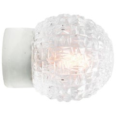 White Porcelain Vintage Industrial Clear Glass Wall Ceiling Lamp Scones