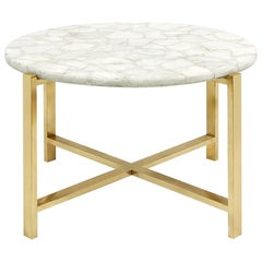 White Quartz Coffee Table