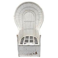 White Rattan Peacock Chair