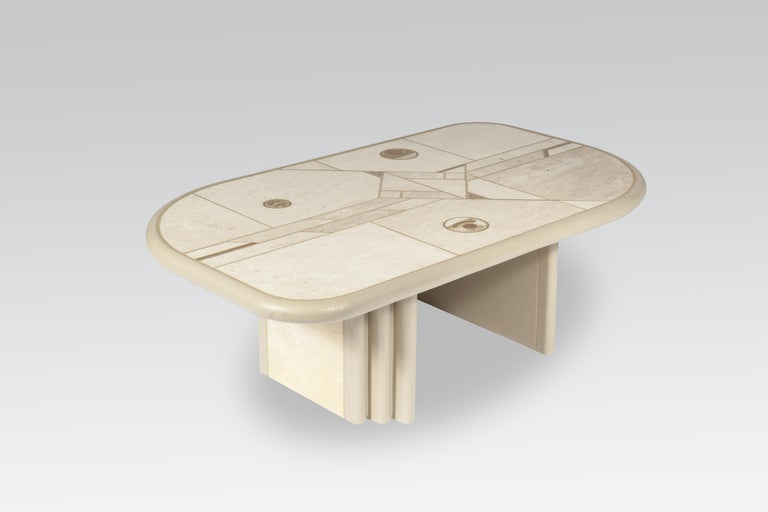 White Rectangular Coffee Table by Design Kingma In Good Condition For Sale In Brussels, BE
