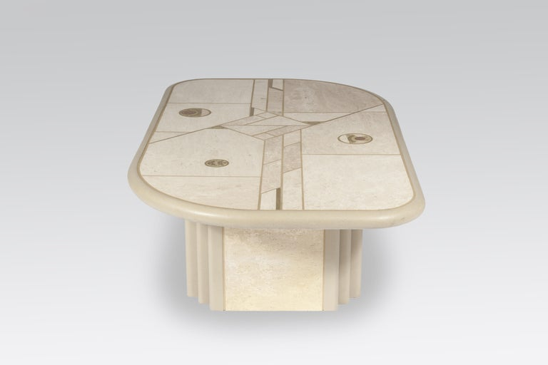 Late 20th Century White Rectangular Coffee Table by Design Kingma For Sale