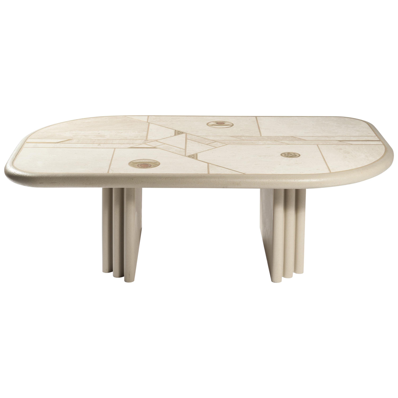 White Rectangular Coffee Table by Design Kingma