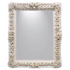 White Rose Rectangular Mirror