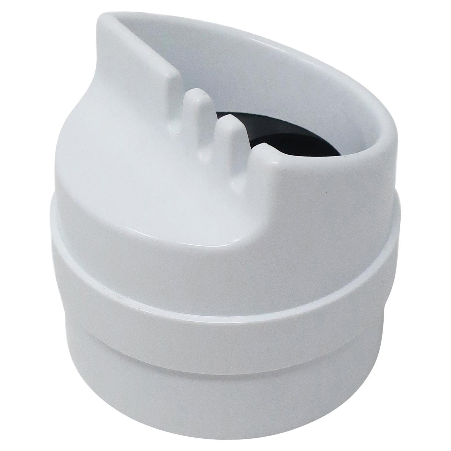 White Roto Ashtray by Joe Colombo for Kartell