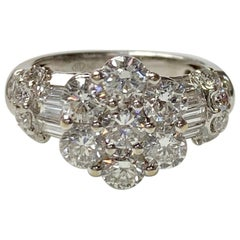 White Round Brilliant Diamond Ring in 18 Karat White Gold