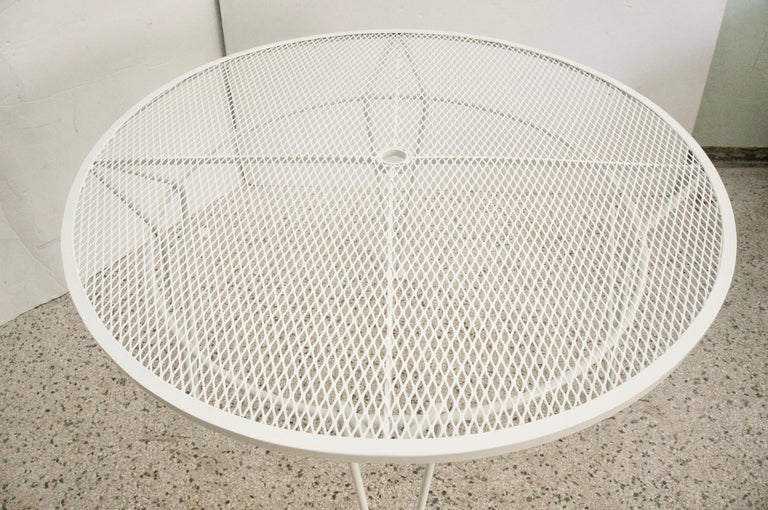 American White Round Patio Dining Table For Sale