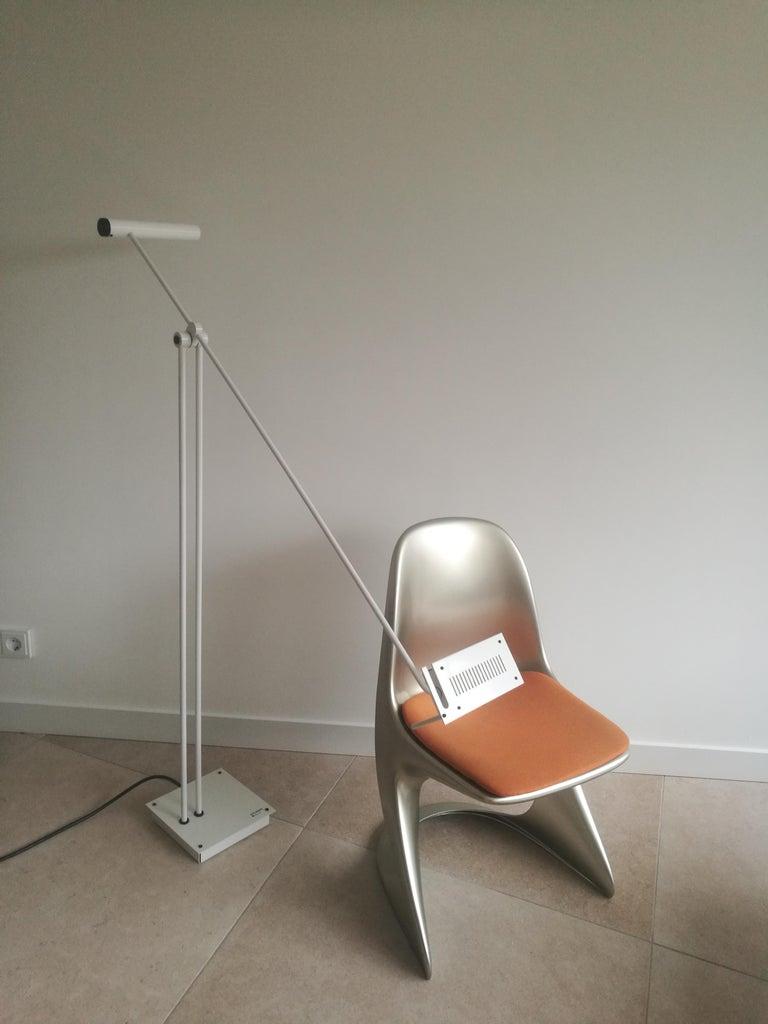 Italian White Samurai Floor Lamp by Sigheaki Asahara Voor Stilnovo, 1980s For Sale