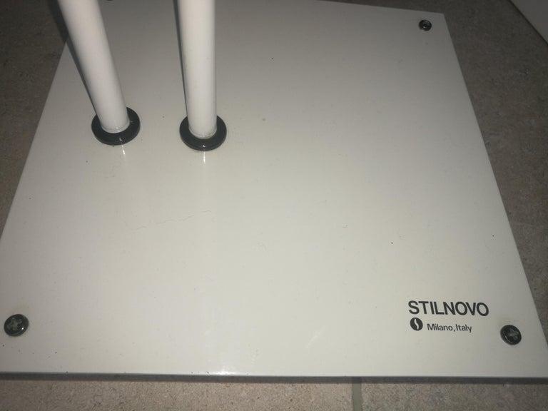 Metal White Samurai Floor Lamp by Sigheaki Asahara Voor Stilnovo, 1980s For Sale
