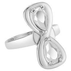 White Topaz Large Infinity Stone Ring