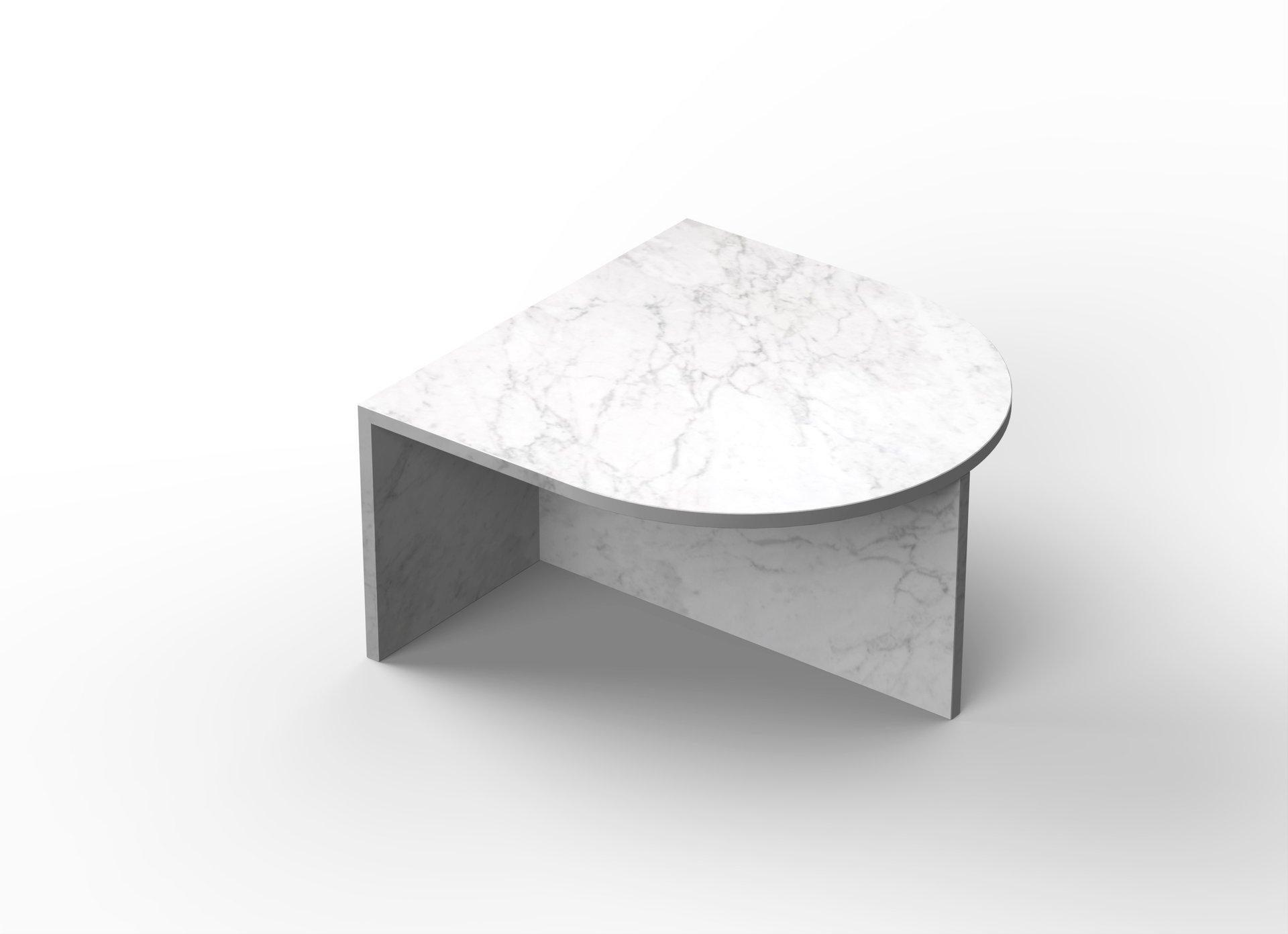 White Satin Glass Fifty Oblong Coffee Table Sebastian Scherer