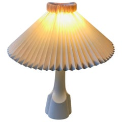 White Scandinavian Ceramic Table Lamp from Søholm, 1970s