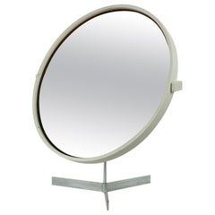 White Scandinavian Modern Table Mirror by U. & Ö. Kristiansson for Luxus