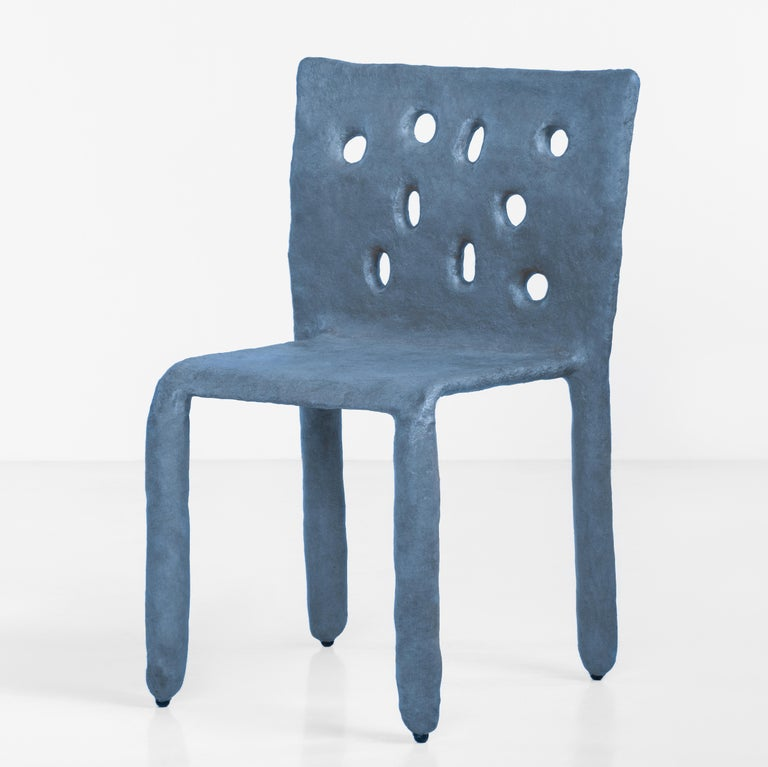 White Sculpted Contemporary Chair by Victoria Yakusha For Sale 7