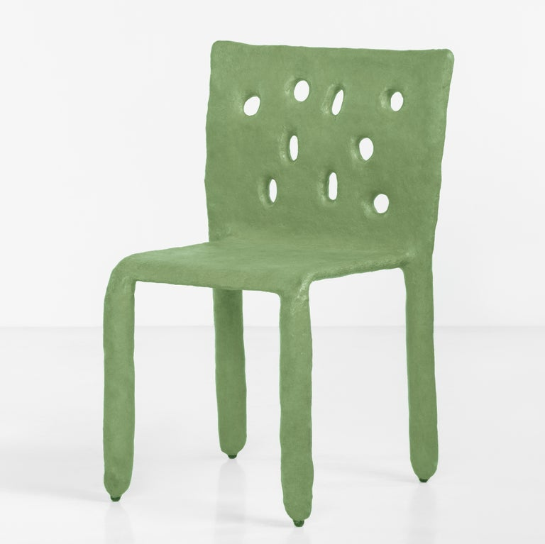 White Sculpted Contemporary Chair by Victoria Yakusha For Sale 8