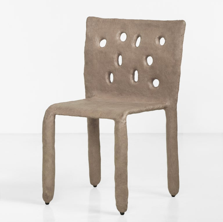 White Sculpted Contemporary Chair by Victoria Yakusha For Sale 9
