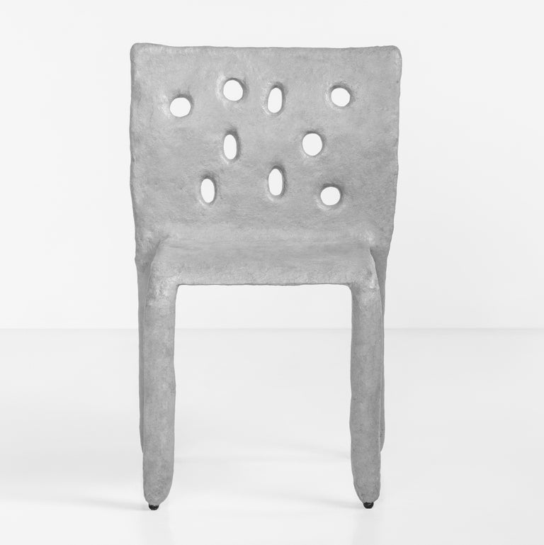White Sculpted Contemporary Chair by Victoria Yakusha For Sale 10