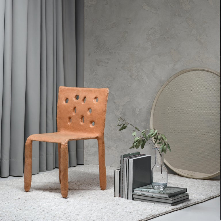 Organic Modern White Sculpted Contemporary Chair by Victoria Yakusha For Sale