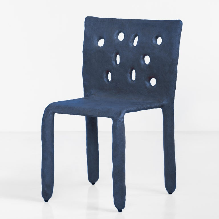 Fabric White Sculpted Contemporary Chair by Victoria Yakusha For Sale