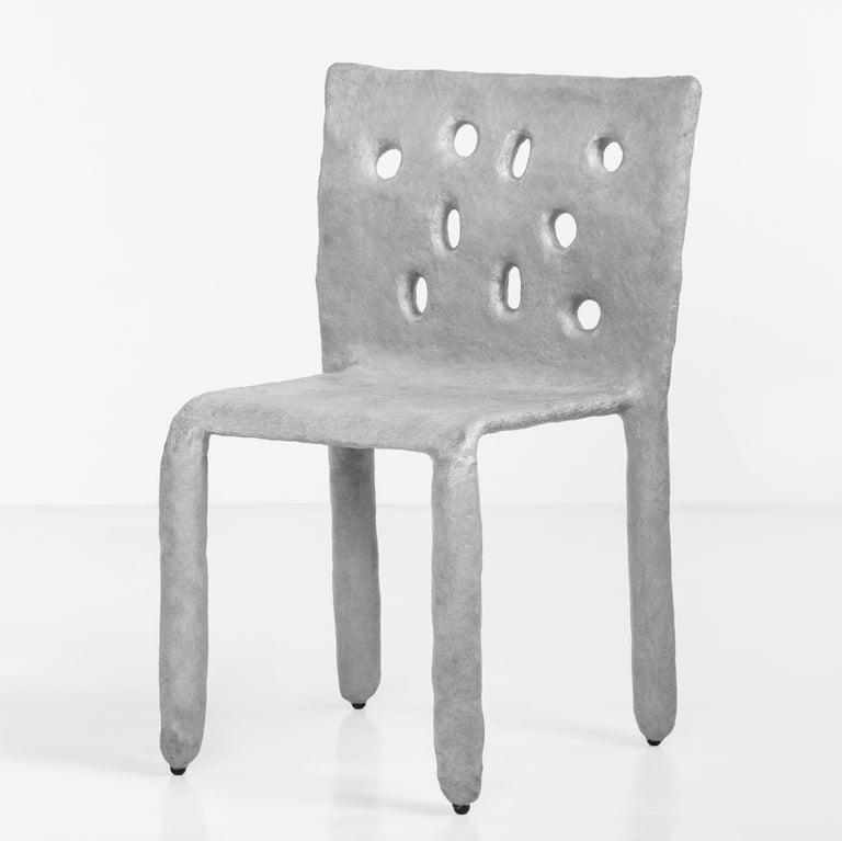 White Sculpted Contemporary Chair by Victoria Yakusha For Sale 1