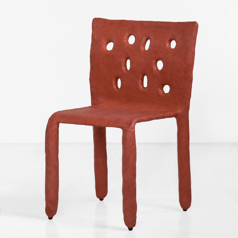 White Sculpted Contemporary Chair by Victoria Yakusha For Sale 2