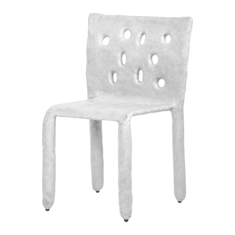 White Sculpted Contemporary Chair by Victoria Yakusha For Sale