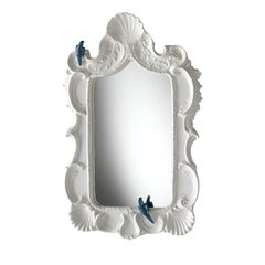 White Shells Parrot Mirror