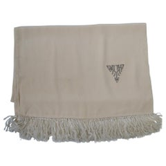 White Silk Men's Scarf