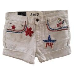 White SOAB customised shorts