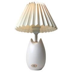 White Soholm Ceramic Table Lamp by Per Rehfeld