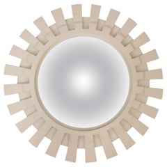 White Starburst Convexed Mirror by Baker Furniture